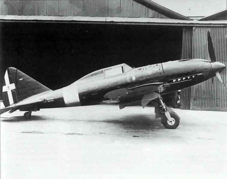 Regia Aeronautica Reggiane Re.2005 Sagittario prototype without a radio mast in 1942