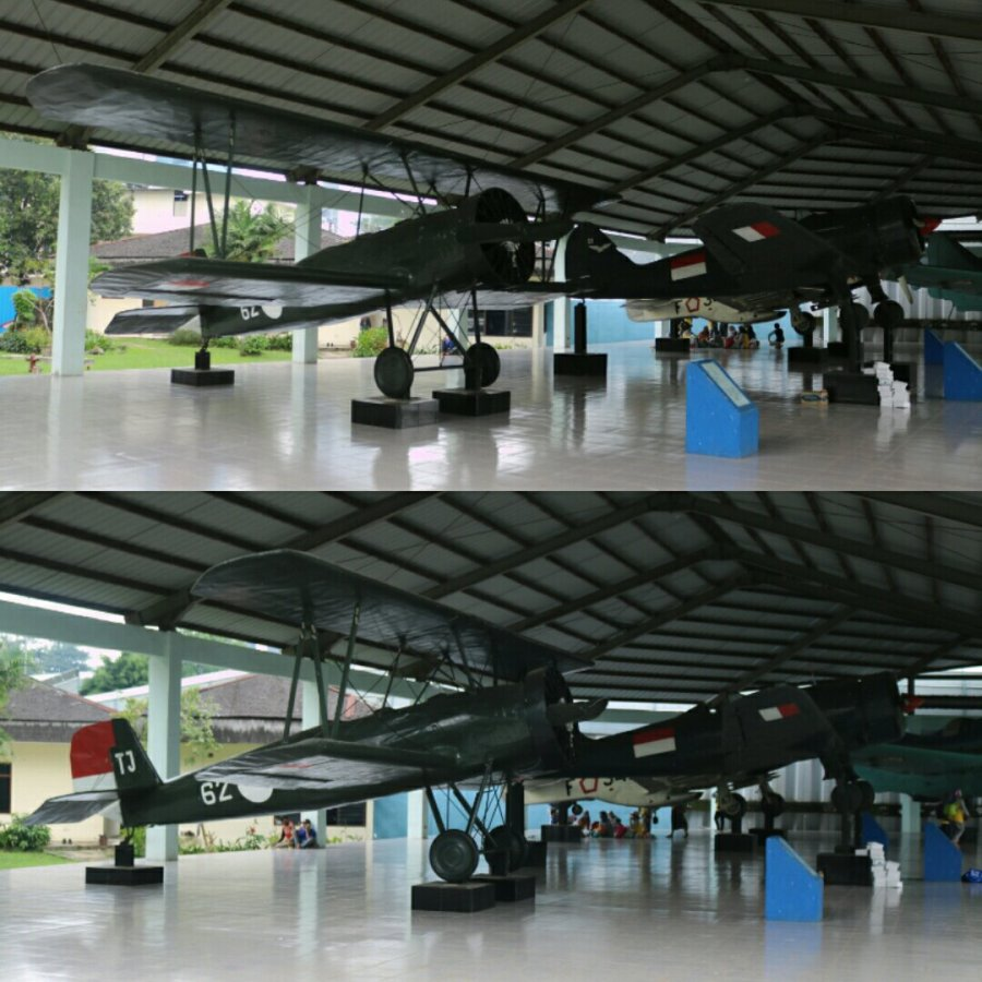 Hikoki K.K. (Japan Airplane Co Ltd) K5Y1 Cureng biplane trainer and Nakajima Mansyū Ki-79 two seat trainer - Armed Forces Museum, Jakarta (April 2018)