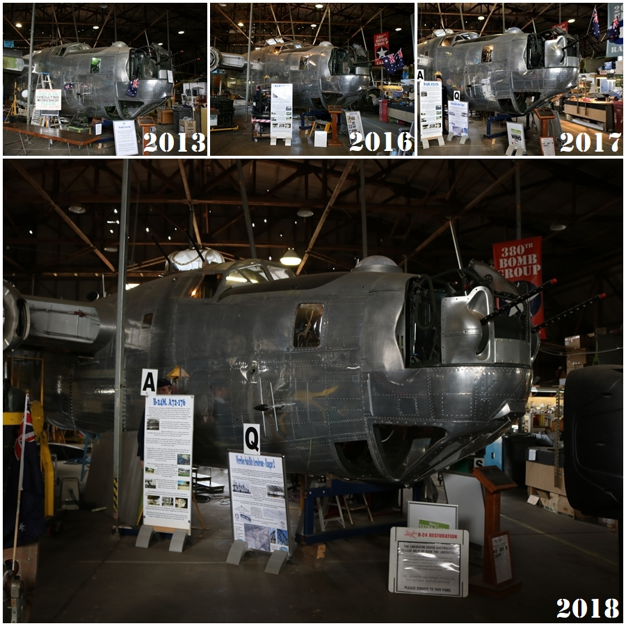B-24M restoration progress 2013 to 2018 - B-24 Liberator Memorial Restoration Fund in Werribee, Victoria, November 2018