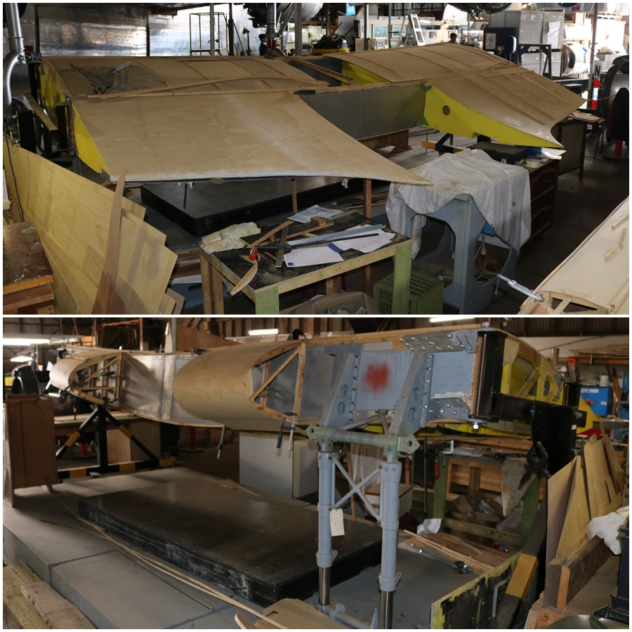 Central wing section of the Airspeed Oxford replica - B-24 Liberator Memorial Restoration Fund in Werribee, Victoria, November 2018