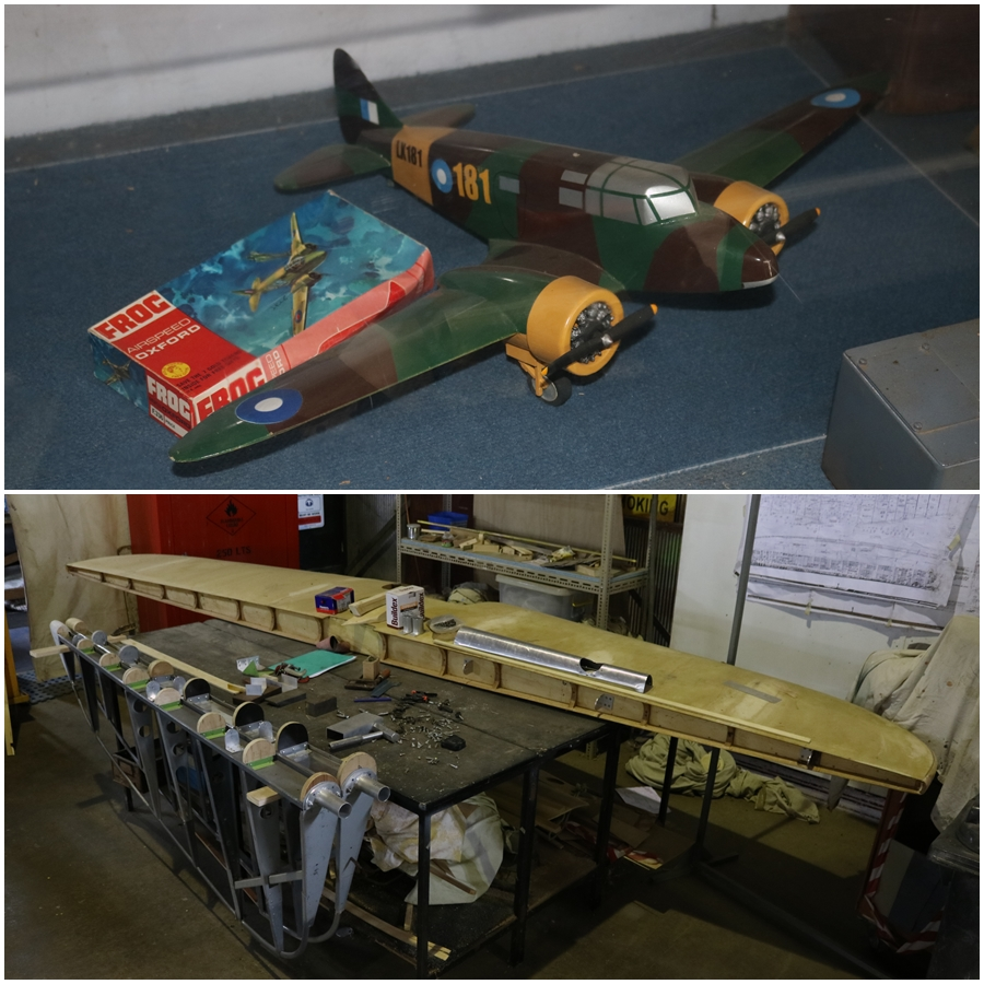Eventually the Airspeed Oxford replica will look something like this model - B-24 Liberator Memorial Restoration Fund in Werribee, Victoria, November 2018