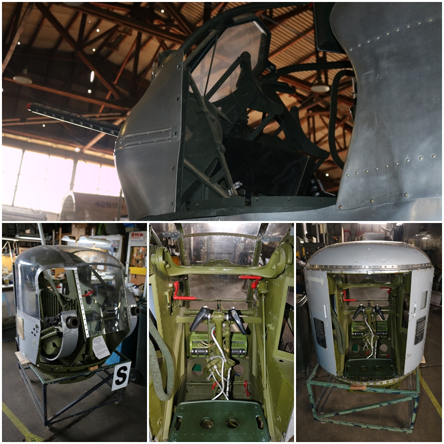 B-24M nose turrets - B-24 Liberator Memorial Restoration, Werribee - November 2018
