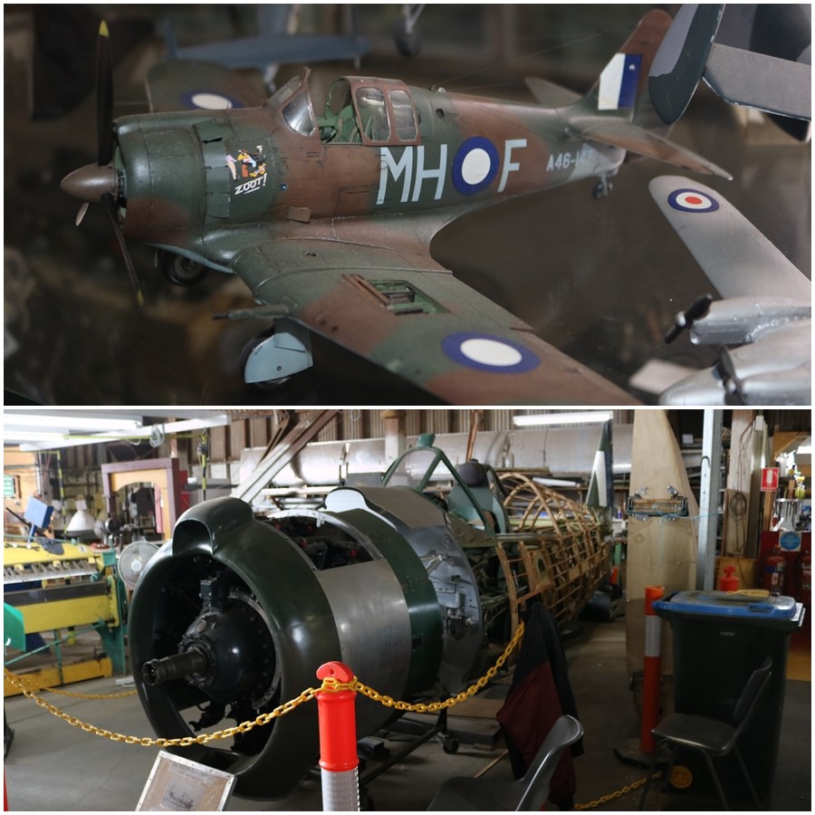 "How RAAF 1943 CAC CA-13 Boomerang (A46-147) ""Zoot!"" will eventually look again - B-24 Liberator Memorial Restoration, Werribee - November 2018"