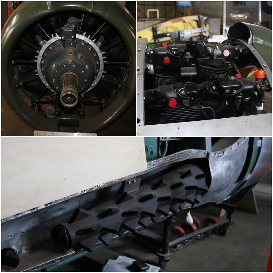The CAC Boomerang is powered by a 1,200 hp Pratt & Whitney R-1830 Twin Wasp radial engine - B-24 Liberator Memorial Restoration, Werribee - November 2018