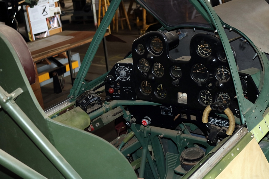 CAC CA-13 Boomerang cockpit instrument panel - B-24 Liberator Memorial Restoration in Werribee, Victoria, November 2018