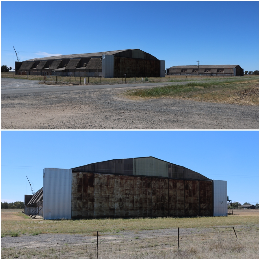 Old RAAF Tocumwal hangars near the current airport that would have once housed Consolidated B-24 Liberator bombers operated by 7OTU (the hangars are today on private property and are strictyly no entrance) - October 2018
