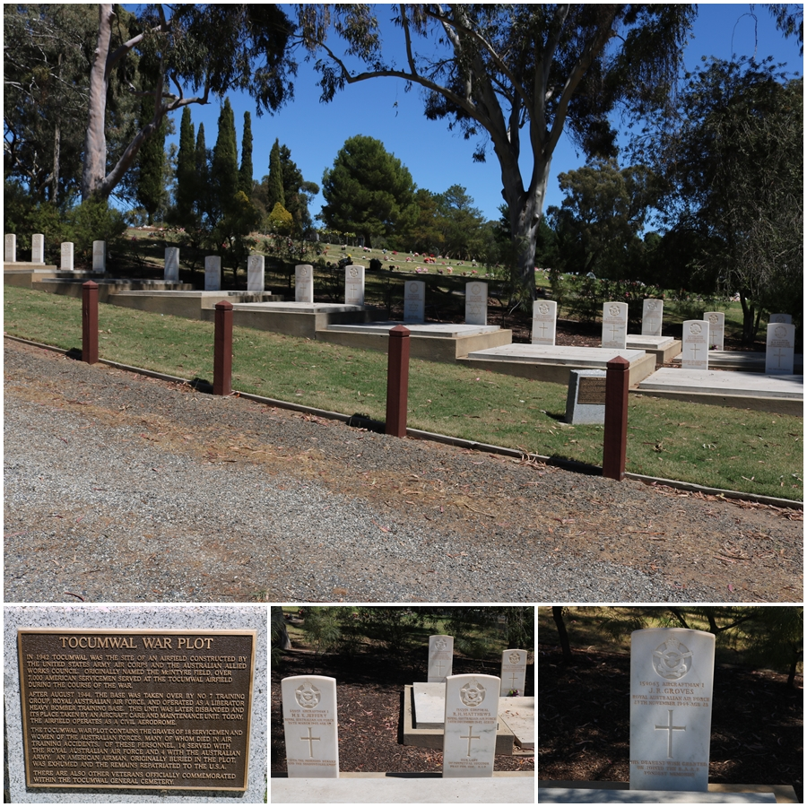 Commonwealth War Graves section of the Tocumwal Cemetery - October 2018